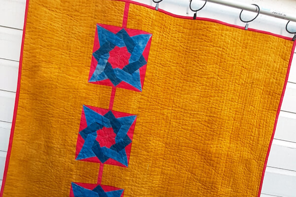 Quilt pattern Sunshine and stars hanging quilt pattern