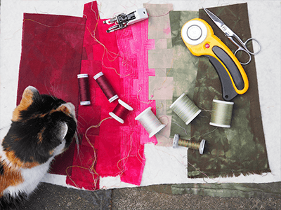 Dyed fabrics for quilt