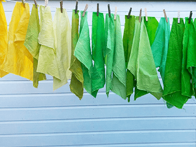Graded dye fabrics