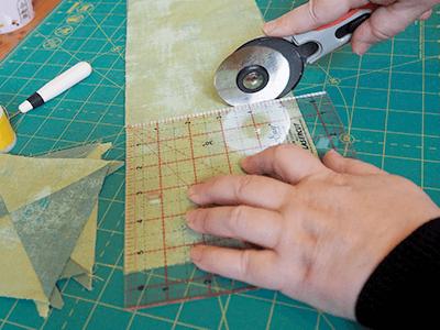 patchwork quilt cutting