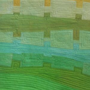 Green and yellow piecing