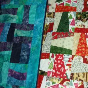 Railfence block quilt